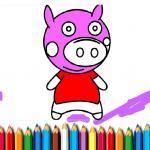 BTS Pig Coloring Book